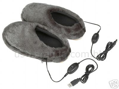 Slippers with USB heaters